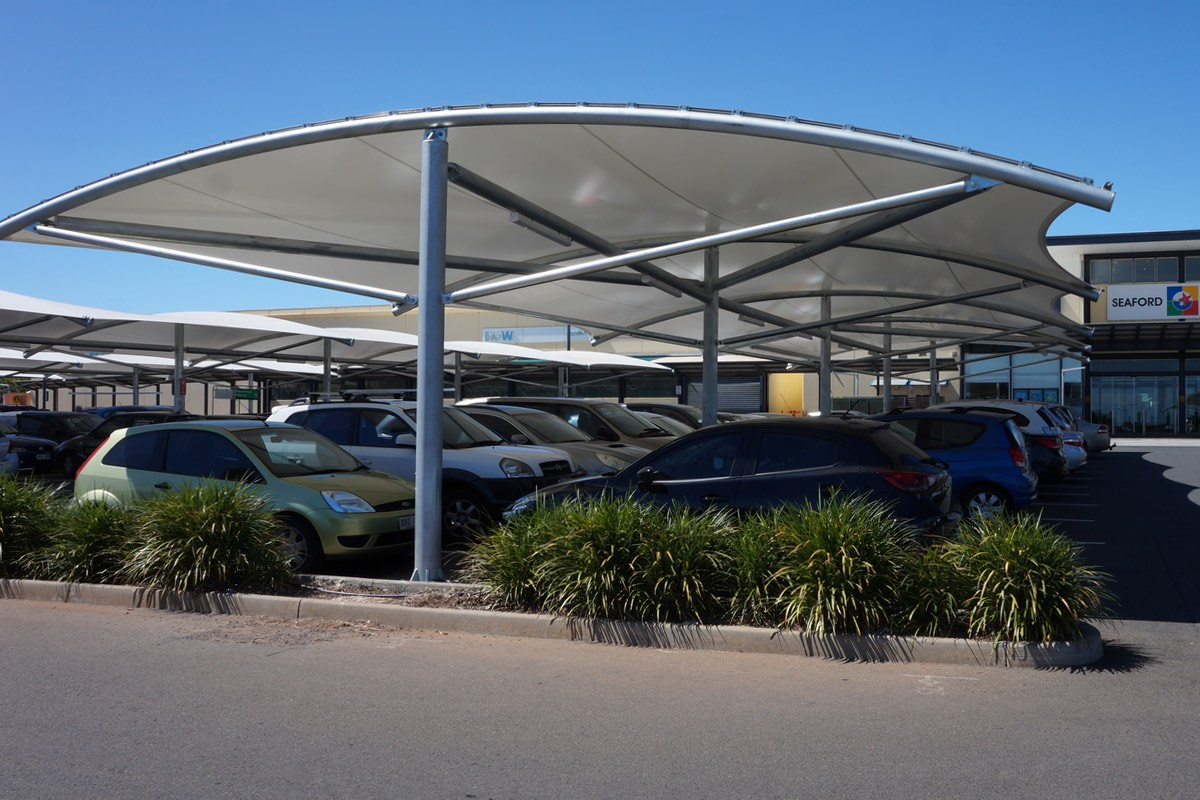 waterproof pvc structure car park shade structure shelter Seaford Central City of Onkaparinga SA