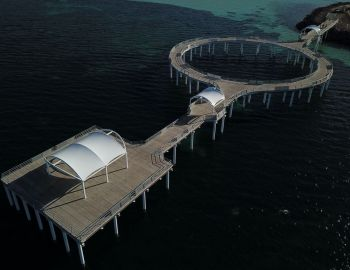 Foreshore shelters for Whyalla circular jetty