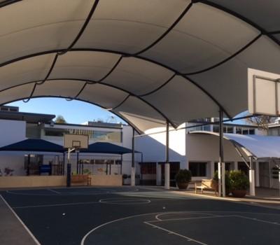 Barrel vault shelter Pulteney Grammar School Adelaide SA 2