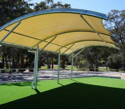 shade structure St ignatius college school Cit of norwood