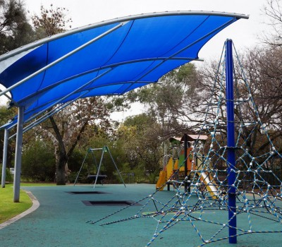 Cantilever shade structure Forestville reserve City Unley