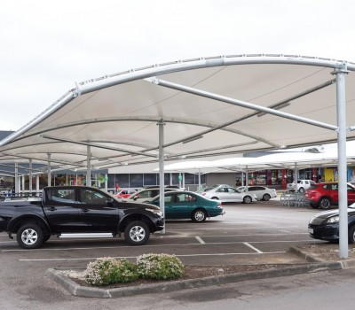 Woolworths Car Park shade structure Mount Gambier SA Weathersafe