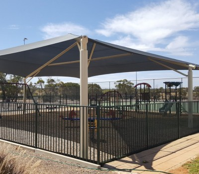 Frame shade sail Kimba District Council Playground Eyre Peninsula SA