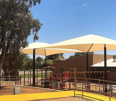 Frame shade sail structure school Port Augusta Eyre Peninsula SA