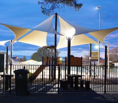 Permanent commercial umbrella West Lakes Rowing Club City of Charles Sturt SA