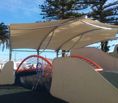 Custom shade shelter cantilever Moseley Square Glenelg City of Holdfast Bay 2