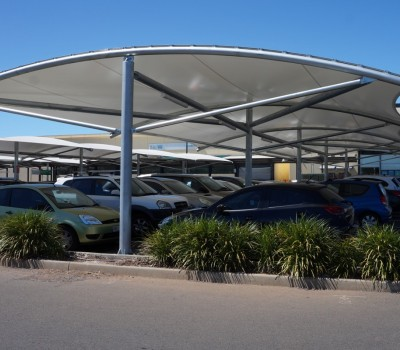 Car park shade structure shelter Seaford Central City of Onkaparinga SA