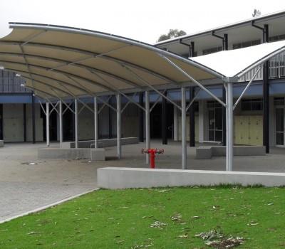 Custom shade shelter Nazareth College Flinders Park City of Charles Sturt SA