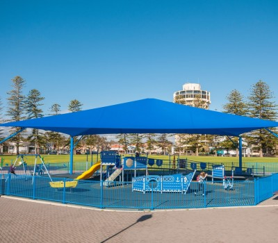 Frame shade sail Wigley Reserve Glenelg City of Holdast Bay SA