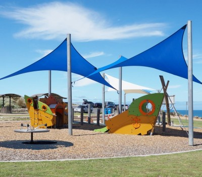 shade sail city of onkaparinga maslin beach frank hilton reserve